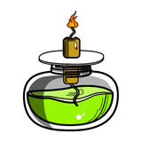 Color sketch of spirit lamp chemical burner. Chemical experiments. Vector illustration, EPS 10 Stock Photos