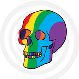 Color skull Stock Image
