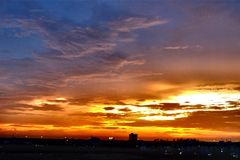 Color of Sky. Color of the evening sky royalty free stock image