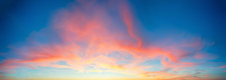 Color only sky with red and orange clouds Royalty Free Stock Photos