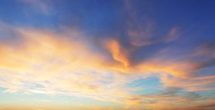 Color only sky with red and orange clouds.  Royalty Free Stock Photos