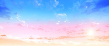 Color sky summer backround Stock Photography