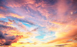 Color Sky only sunset sunrise Stock Photos