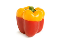 Color slices of bulgarian pepper Royalty Free Stock Images