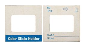 Color slide holder card. On white stock photo
