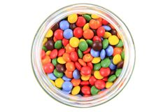 Color smarties. On the white background Royalty Free Stock Photography