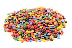 Color smarties isolated. On the white background Royalty Free Stock Photography