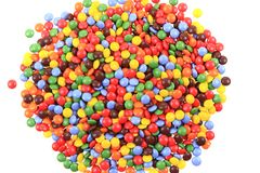 Color smarties isolated. On the white background Stock Photography