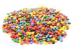Color smarties isolated. On the white background Royalty Free Stock Photos