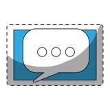 Color smartphone symbol bubble button Royalty Free Stock Photo
