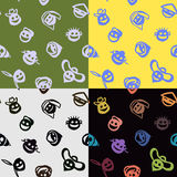Color smiles. Seamless pattern with funny international smiles Royalty Free Stock Images