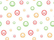 Color smiley faces seamless pattern Royalty Free Stock Photo