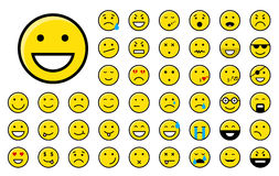 Color smiley Stock Photography