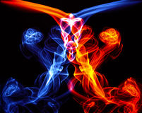 Color smoke. On black background Stock Images