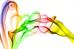 Color smoke. Smoke abstract background Stock Images