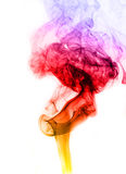Color smoke. Smoke abstract photo to background Stock Images