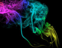Color smoke, abstract background Stock Image