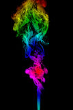 Color Smoke abstract photo, isolated on black background Stock Photo