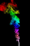 Color Smoke abstract photo, isolated on black background Royalty Free Stock Photography