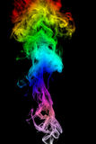Color Smoke abstract photo, isolated on black background Royalty Free Stock Photo