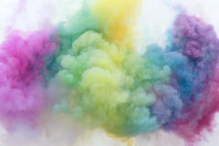 Color smoke. The color smoke in the air stock photography