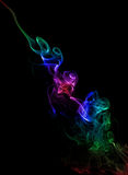 Color Smoke On Black Royalty Free Stock Photo