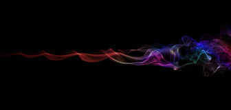 Color Smoke On Black Royalty Free Stock Images