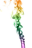 Color smoke on black background Stock Photos