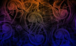 Color smoke. There have lots of color re,purple,lots o blue,yellow and black Royalty Free Stock Photos