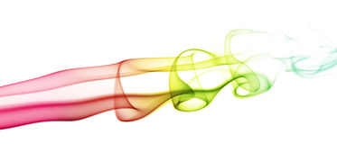 Color smoke flow horizontal Stock Photography