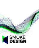 Color smoke wave on white - design element Stock Photography