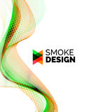 Color smoke wave on white - design element Royalty Free Stock Photography