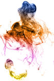 Color smoke on white Stock Images