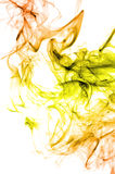 Color smoke on white background Stock Images
