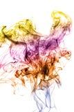 Color smoke on white royalty free stock image