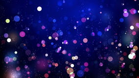 Color Snowfall Silent Night Royalty Free Stock Photos