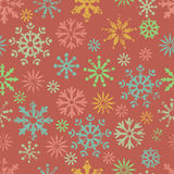 Color snowflakes seamless pattern Royalty Free Stock Image