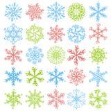 Color snowflakes, vector Royalty Free Stock Photos