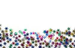 Color snowflakes on white background Royalty Free Stock Photos