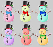 Color snowman. Isolated on white Stock Photography