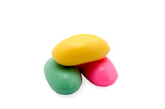 Color soap. Cosmetic object for hygiene of skin body Stock Photos