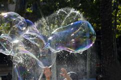 Color Soapy bubbles. Floating in mid-air Royalty Free Stock Images