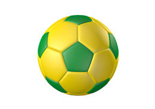 Color Soccer ball. Football on 2014 color theme. Easy selection with clipping path Stock Image