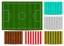 Color soccer field Stock Photo