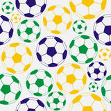 Color  soccer seamless pattern. Bright soccer pattern: balls, colors Royalty Free Stock Photos