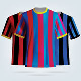 Color soccer T-shirts template. Football team equipment Royalty Free Stock Photography