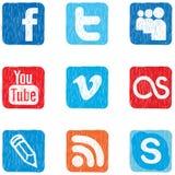 Color social del icono de los media