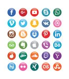 Color Social Media Glossy Buttons for Social media vector illustration
