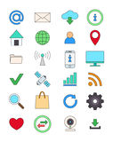 Color social media icons set Royalty Free Stock Photos