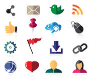 Color social network icons Royalty Free Stock Photography